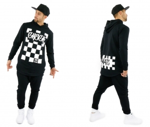 MEN'S BLACK HOODIE CHECKMATE