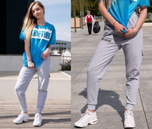 CHILDREN'S SWEATPANTS CLASSIC UBR CREW MELANGE