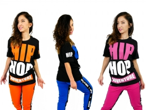 CHILDREN'S T-SHIRT HIP HOP COLORS