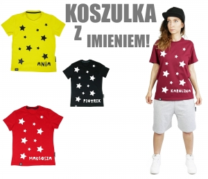 T-SHIRT UNISEKS CLASSIC  STARS AND NAME