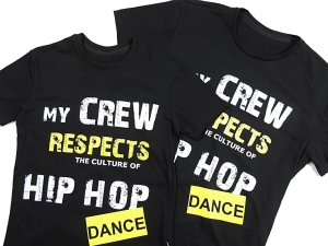 T-SHIRT MY CREW RESPECTS - BLACK COLOR