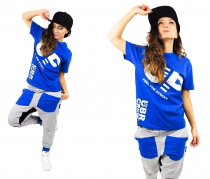 CHILDREN'S T-SHIRT UP FEEL THE STREET BLUE